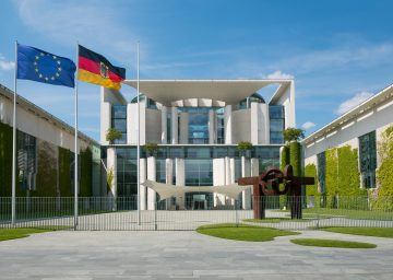 Berlin, Germany - may 23, 2017: The German Chancellery building in Berlin.