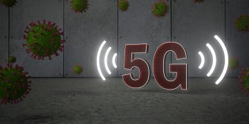 En konspirationsteori om 5G og coronavirus. 3d-illustration.