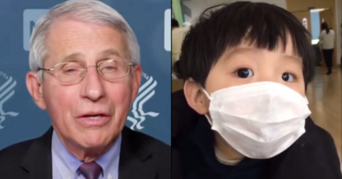 Is Fauci insisting that Children wear Masks, despite the Risk and their Ineffectiveness?