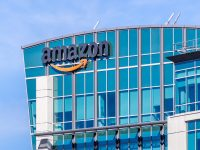 November 2, 2018 Sunnyvale / CA / USA - Amazons hovedkvarter ligger i Silicon Valley, San Francisco Bay Area